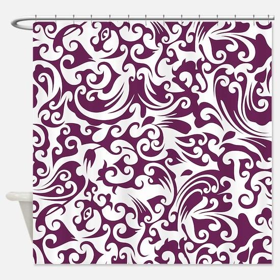Alyssum & White Swirls #2 Shower Curtain