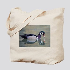 Reflections of a Wood Duck Tote Bag