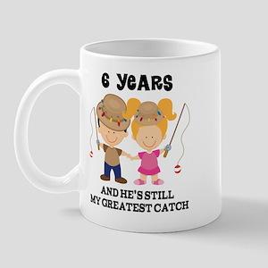 6th Anniversary Hes Greatest Catch Mug