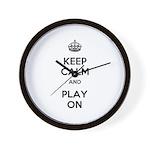 Keep Calm and Play On Wall Clock