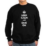 Keep Calm Dive On Sweatshirt (dark)