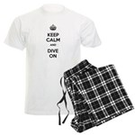 Keep Calm Dive On Men's Light Pajamas
