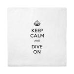 Keep Calm Dive On Queen Duvet