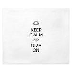 Keep Calm Dive On King Duvet