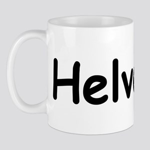 Helvetica Written In Comic Sans Font Mug