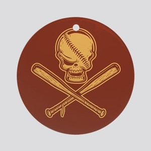 Skull and Crossbats 513 Ornament (Round)