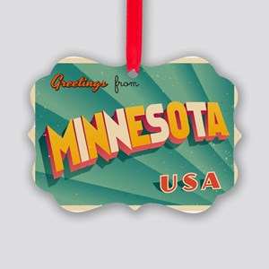 Vintage Touristic Greeting Card - Picture Ornament