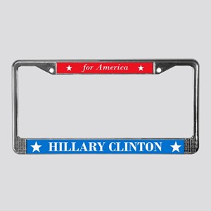 Hillary Clinton for America mb License Plate Frame