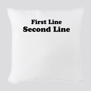 2lineTextPersonalization Woven Throw Pillow