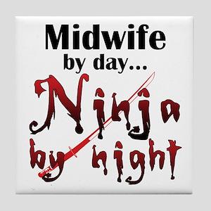 Midwife Ninja Tile Coaster