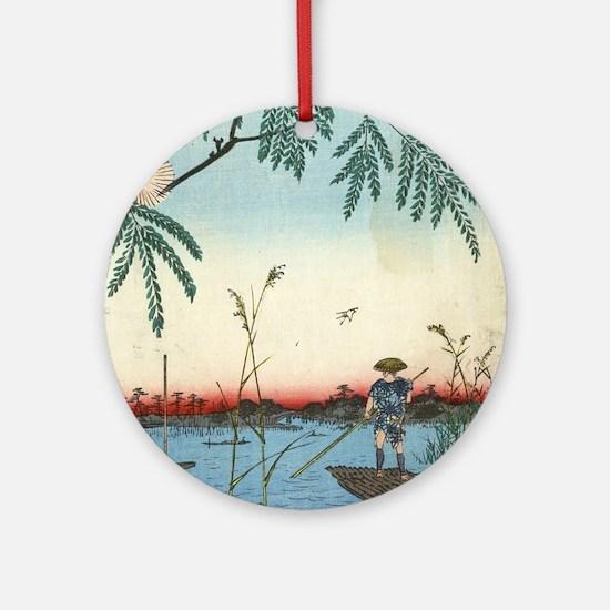 Ayase River and Kanegafuchi - Hiroshige Ando - 185