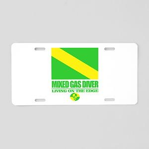 Mixed Gas Diver Aluminum License Plate
