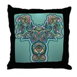 Feathered Serpent Throw Pillow