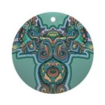 Feathered Serpent Ornament (Round)