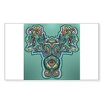Feathered Serpent Rectangle Sticker