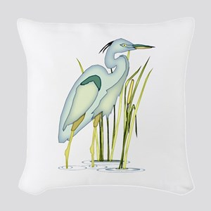 Heron Woven Throw Pillow