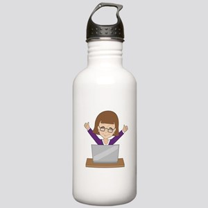 Business Lady Laptop Stainless Water Bottle 1.0L