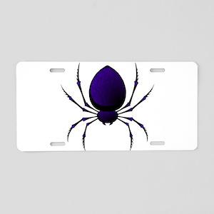 Black Spider Aluminum License Plate