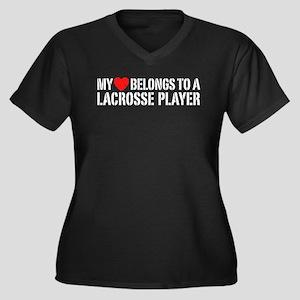 My Heart Belongs To A Lacrosse Player Women's Plus