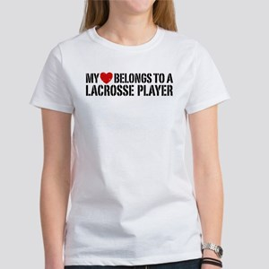 My Heart Belongs To A Lacrosse Player Women's T-Sh