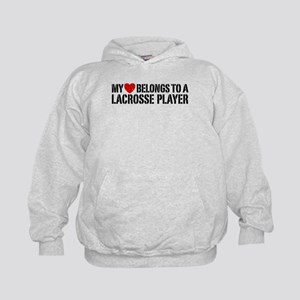 My Heart Belongs To A Lacrosse Player Kids Hoodie