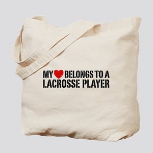 My Heart Belongs To A Lacrosse Player Tote Bag