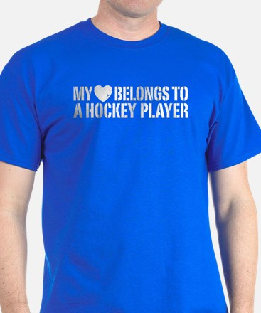 My Heart Belongs To A Hockey Player T-Shirt