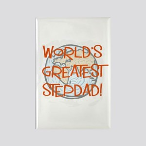 World's Greatest Stepdad Rectangle Magnet