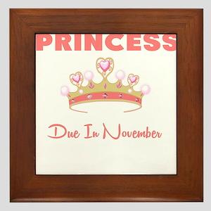 PRINCESS DUE IN NOVEMBER Framed Tile