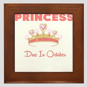 PRINCESS DUE IN OCTOBER Framed Tile