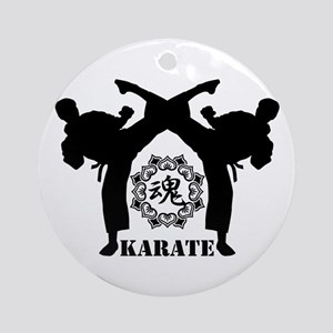 KARATE keri 4 Ornament (Round)