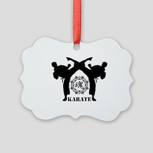 KARATE keri 4 Picture Ornament