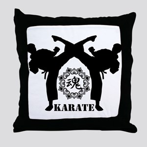 KARATE keri 4 Throw Pillow