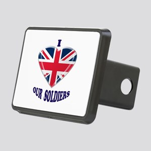 I Heart Our UK Soldiers Hitch Cover