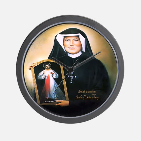 Saint Faustina Apostle of Divine Mercy Wall Clock