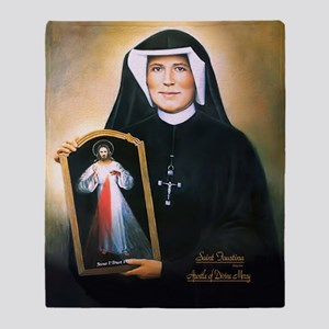 Saint Faustina Apostle of Divine Mercy Throw Blank
