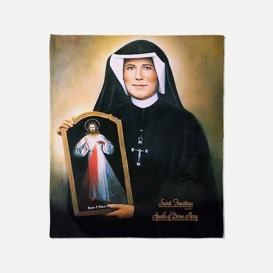 Saint Faustina Apostle of Divine Mercy Throw Blank