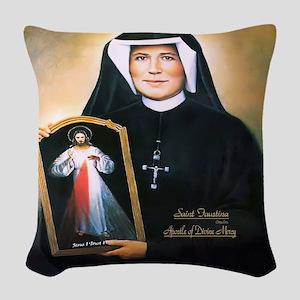 Saint Faustina Apostle of Divine Mercy Woven Throw