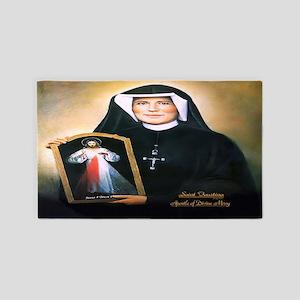 Saint Faustina Apostle of Divine Mercy 3'x5' Area