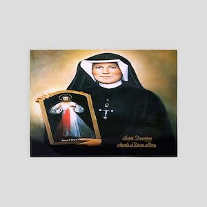 Saint Faustina Apostle of Divine Mercy 5'x7'Area R