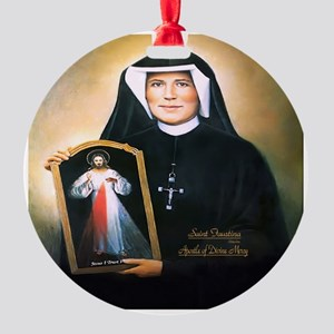 Saint Faustina Apostle of Divine Mercy Round Ornam