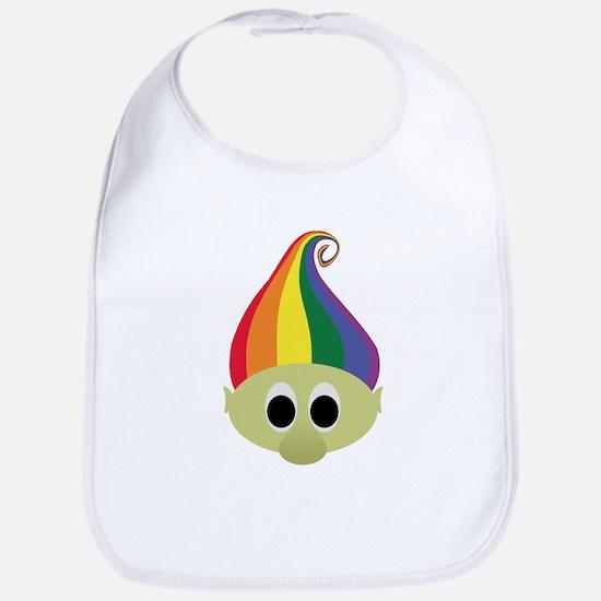 Rainbow Troll Bib