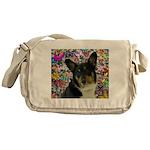 Sebastian Welsh Corgi Butterflies Messenger Bag