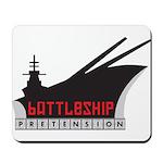 Battleship Pretension Logo Mousepad
