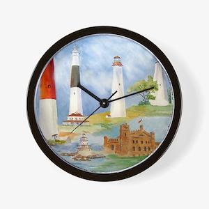 New Jersey Light Houses Wall Clock