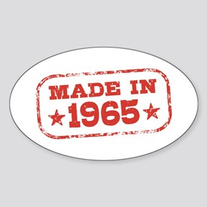 Made In 1965 Sticker (Oval)