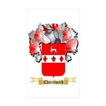Churchward Sticker (Rectangle 10 pk)