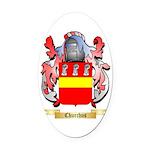 Churchus Oval Car Magnet