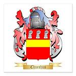 Churchus Square Car Magnet 3