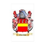 Churchus Sticker (Rectangle 50 pk)